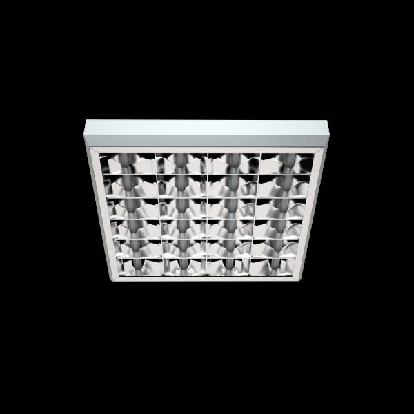Светильник PRB/S с зеркальной параболической решеткой фото, цена