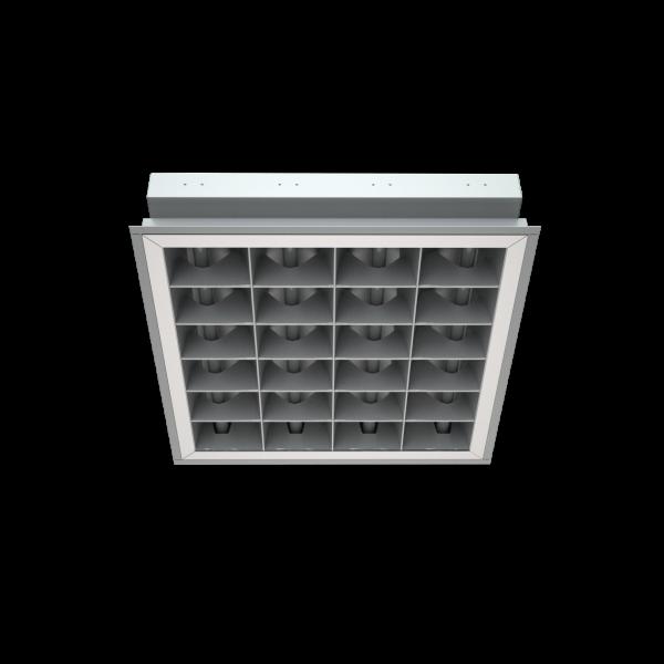 Светильник PRBLUX/R mat  с двойной матовой параболической решеткой фото, цена