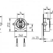 Соединительные элементы (Патроны для ламп) Патрон для люминесцентных ламп (торцевой) G13 фото, цена