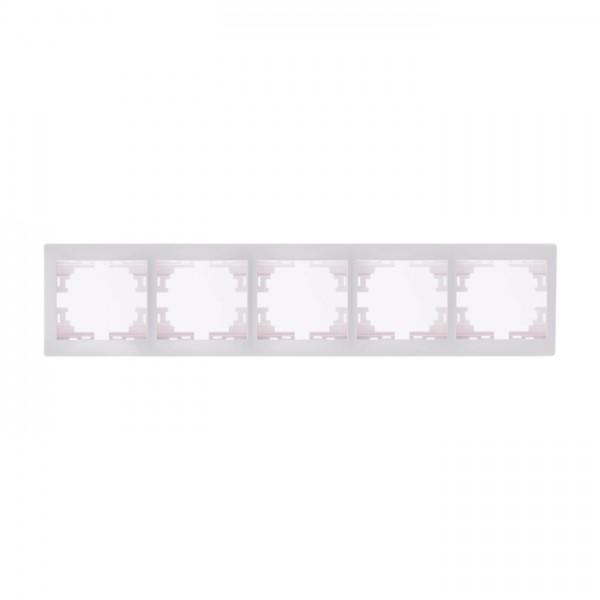 Рамка 5-ая горизонтальная б/вст, белый, Mira фото, цена