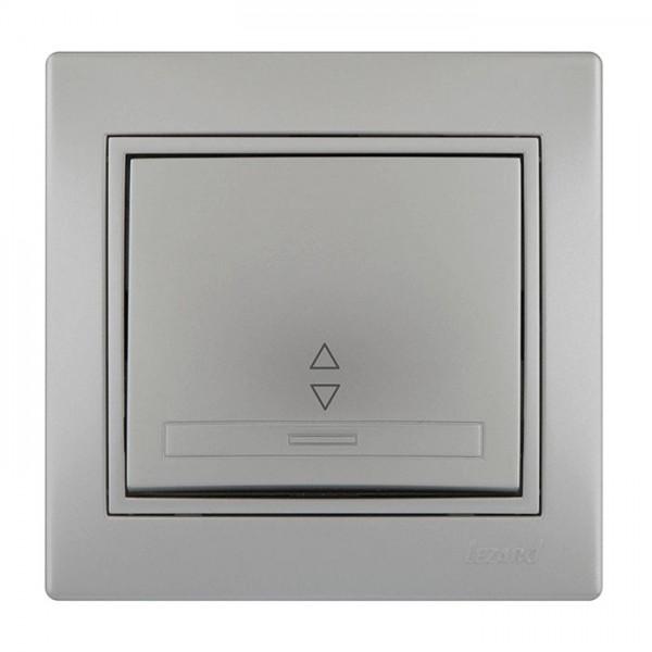 Выключатель проходной, серый металлик, Mira фото, цена