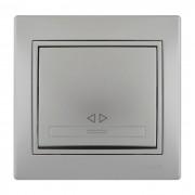 Выключатели Выключатель промежуточный, серый металлик, Mira фото, цена