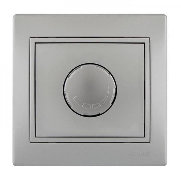 Диммер 500 Вт с фильтром и предохранителем, серый металлик, Mira фото, цена