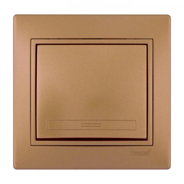 Выключатель, матовое золото металлик, Mira фото, цена