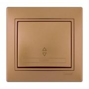 Выключатели Выключатель проходной, матовое золото металлик, Mira фото, цена