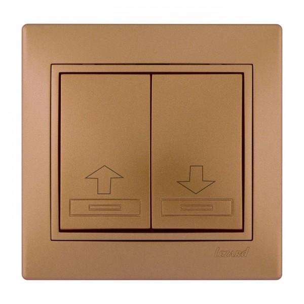Коммутатор жалюзи, матовое золото металлик, Mira фото, цена