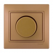 Выключатели Диммер 500 Вт с фильтром, матовое золото металлик, Mira фото, цена