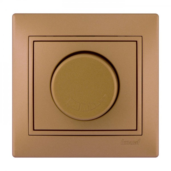 Диммер 500 Вт с фильтром, матовое золото металлик, Mira фото, цена