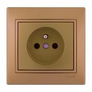 Розетки Розетка с\з французского типа, матовое золото металлик, Mira фото, цена