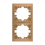 Рамки для розеток Рамка 2-ая вертикальная б/вст, матовое золото металлик, Mira фото, цена