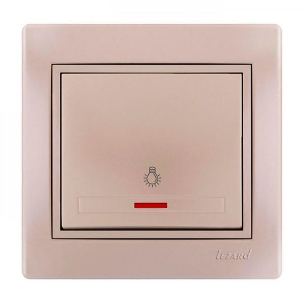 Кнопка таймера с подсветкой, жемчужно-белый металлик, Mira фото, цена