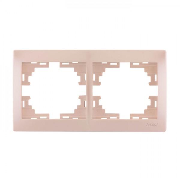 Рамка 2-ая горизонтальная б/вст, жемчужно-белый металлик, Mira фото, цена