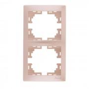 Рамки для розеток Рамка 2-ая вертикальная б/вст, жемчужно-белый металлик, Mira фото, цена