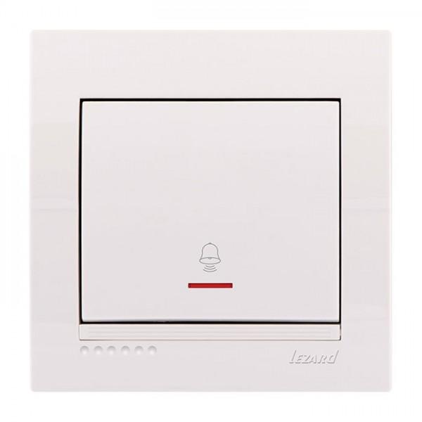 Кнопка звонка с подсветкой, белый, Deriy фото, цена