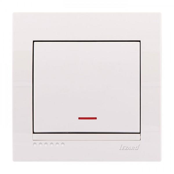 Выключатель с подсветкой, белый, Deriy фото, цена