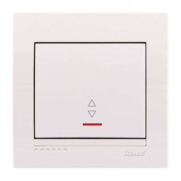 Выключатель проходной с подсветкой, белый, Deriy фото, цена