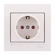 Розетки Розетка с защитой от детей - FireProof Бакелит, белый, Deriy фото, цена