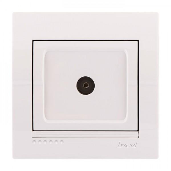 Розетка ТВ оконечная, белый, Deriy фото, цена