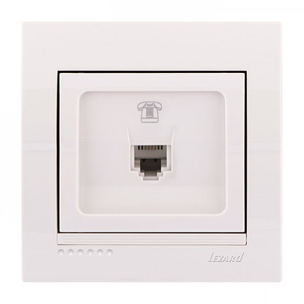 Розетка телефонная евро, белый, Deriy фото, цена