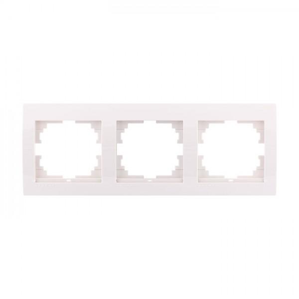 Рамка 3-ая горизонтальная б/вст, белый, Deriy фото, цена