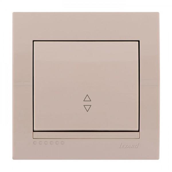 Выключатель проходной, крем, Deriy фото, цена