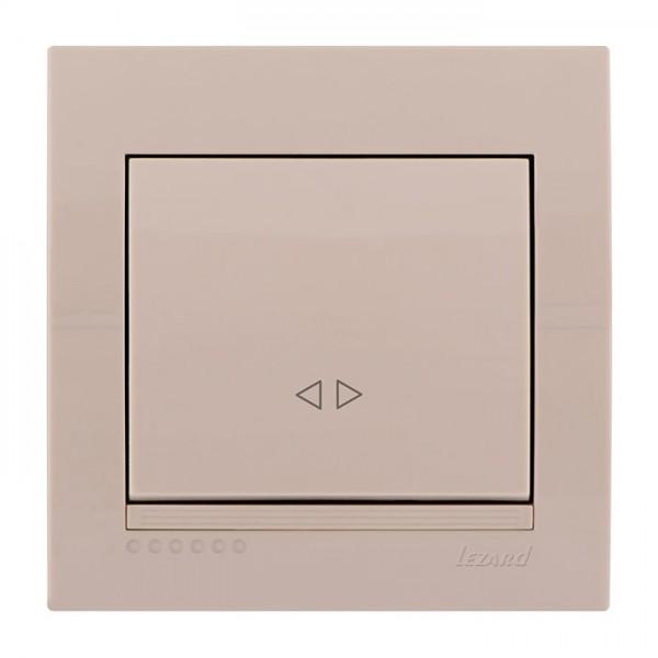 Выключатель промежуточный, крем, Deriy фото, цена