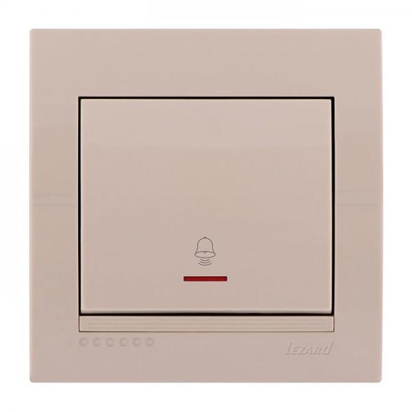 Кнопка звонка с подсветкой, крем, Deriy фото, цена