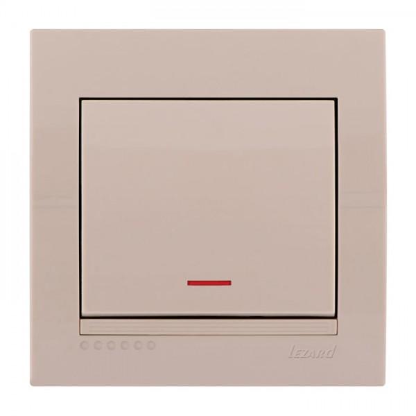 Выключатель с подсветкой, крем, Deriy фото, цена