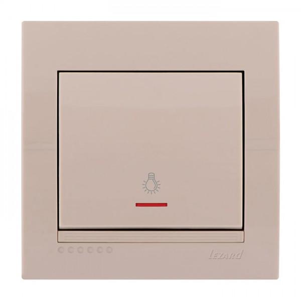 Кнопка таймера с подсветкой, крем, Deriy фото, цена