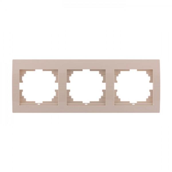 Рамка 3-ая горизонтальная б/вст, крем, Deriy фото, цена