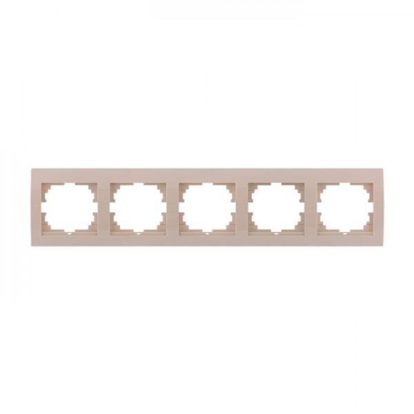 Рамка 5-ая горизонтальная б/вст, крем, Deriy фото, цена
