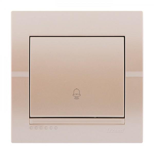 Кнопка звонка, жемчужно-белый металлик, Deriy фото, цена