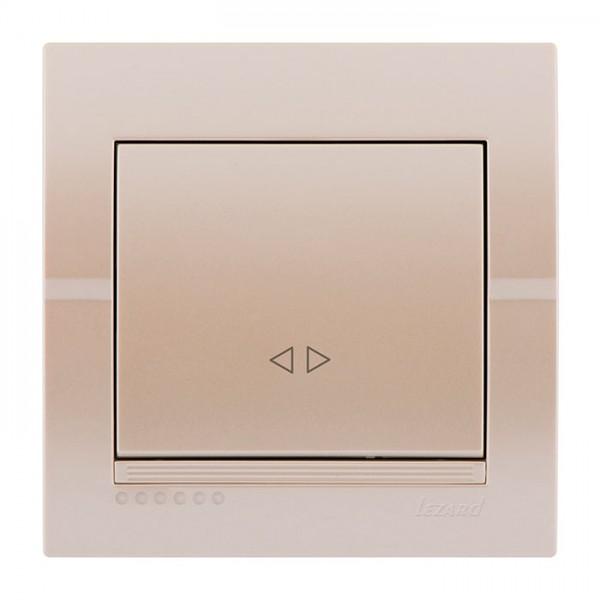 Выключатель промежуточный, жемчужно-белый металлик, Deriy фото, цена