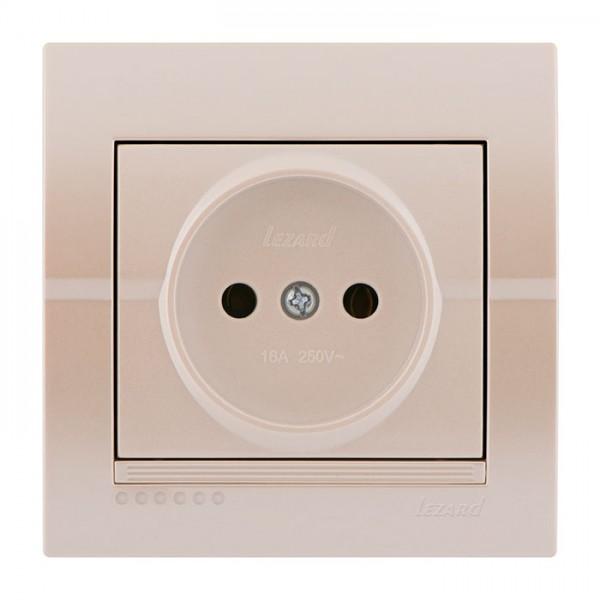 Розетка б/з - FireProof Бакелит, жемчужно-белый металлик, Deriy фото, цена