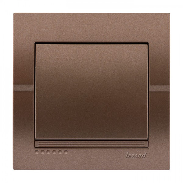 Выключатель, светло-коричневый металлик, Deriy фото, цена
