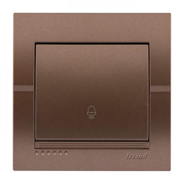 Кнопка звонка, светло-коричневый металлик, Deriy фото, цена