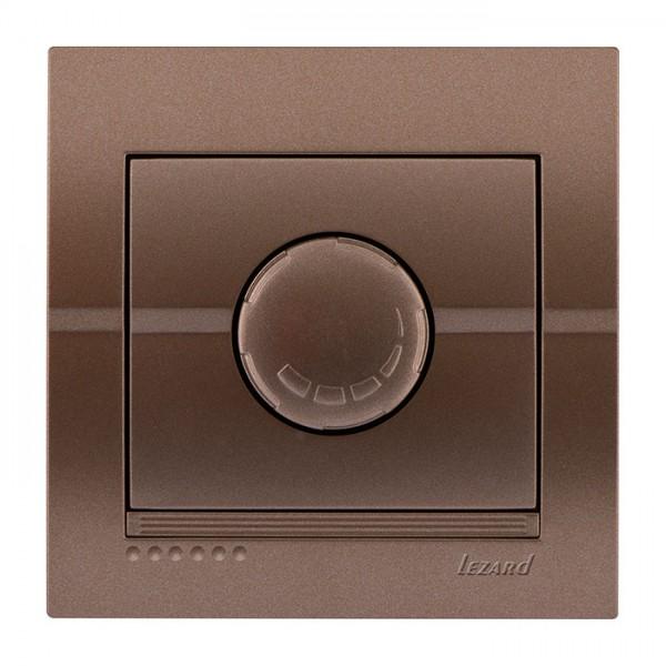 Диммер 500 Вт с фильтром и предохранителем, светло-коричневый металлик, Deriy фото, цена