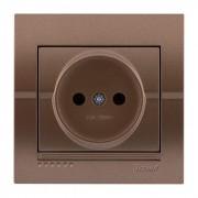 Розетки Розетка б/з - FireProof Бакелит, светло-коричневый металлик, Deriy фото, цена