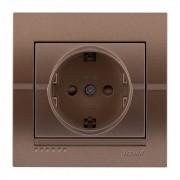 Розетки Розетка с защитой от детей, светло-коричневый металлик, Deriy фото, цена