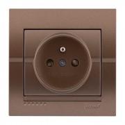 Розетки Розетка с\з французского типа, светло-коричневый металлик, Deriy фото, цена