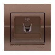 Розетки Розетка телефонная евро, светло-коричневый металлик, Deriy фото, цена