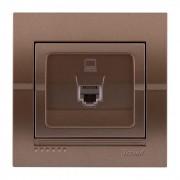 Розетки Розетка компьютерная, светло-коричневый металлик, Deriy фото, цена