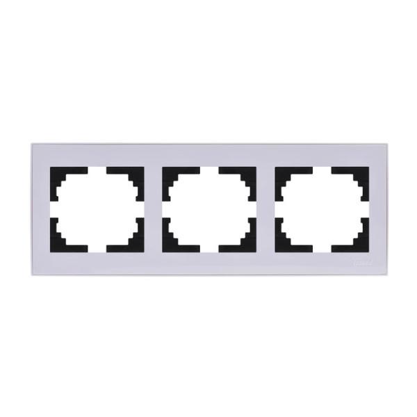 Рамка 2-ая горизонтальная б/вст белый Rain фото, цена