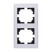 Рамки для розеток Рамка 2-ая вертикальная б/вст белый Rain фото, цена