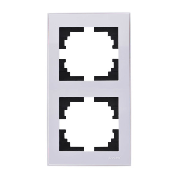 Рамка 2-ая вертикальная б/вст белый Rain фото, цена