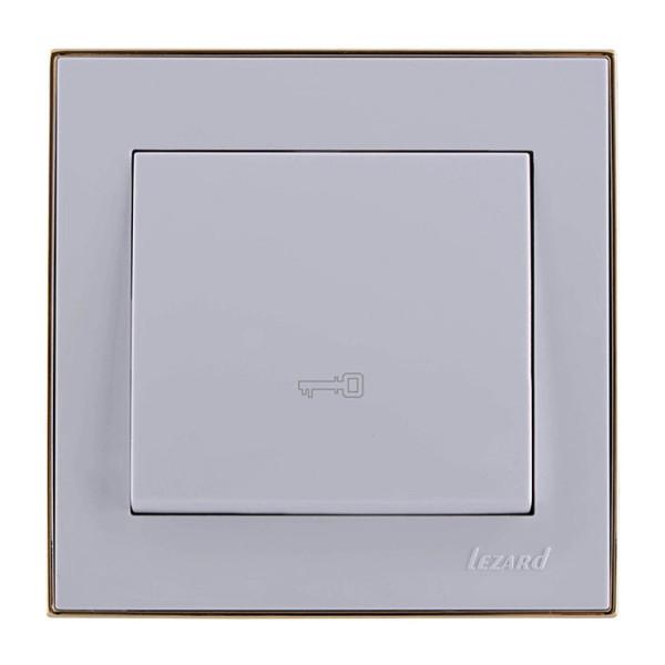 Кнопка дверного автомата белый/золото Rain фото, цена