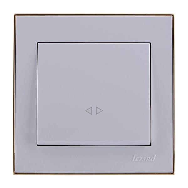 Выключатель промежуточный белый/золото Rain фото, цена