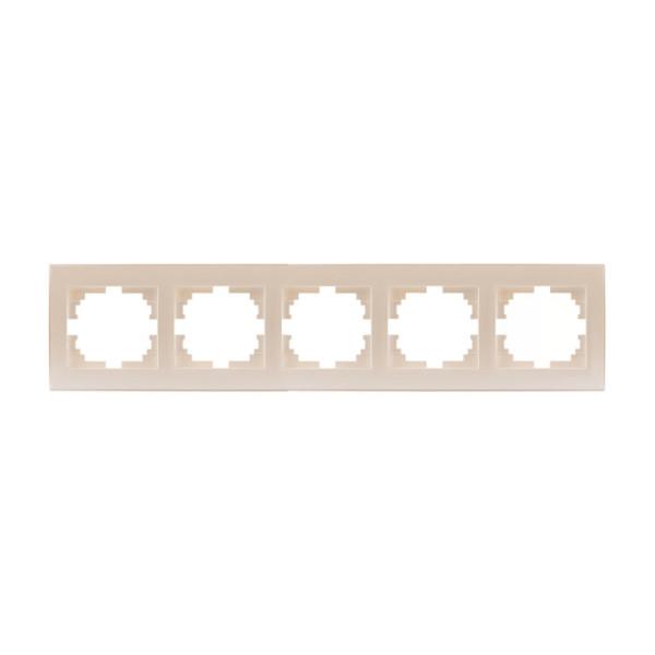Рамка 5-ая горизонтальная б/вст жемчужно-белый Rain фото, цена