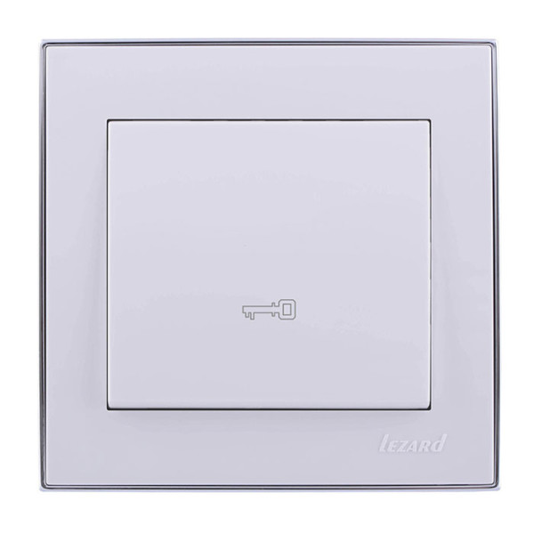 Кнопка дверного автомата белый/хром Rain фото, цена
