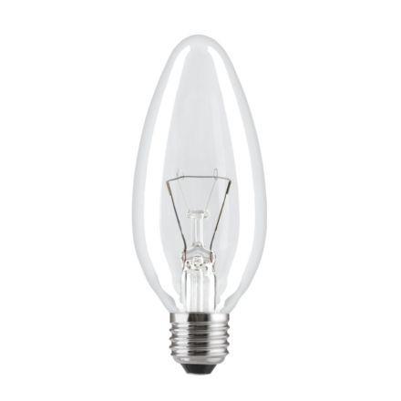 Лампа накаливания свеча прозрачная 60C1/CL/E27 General Electric фото, цена